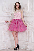 Платье с пышной юбкой и напылением из блесток
