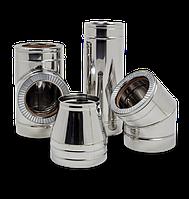Трубы для дымоходов d=150/220 мм 1 мм в нержавеющем кожухе