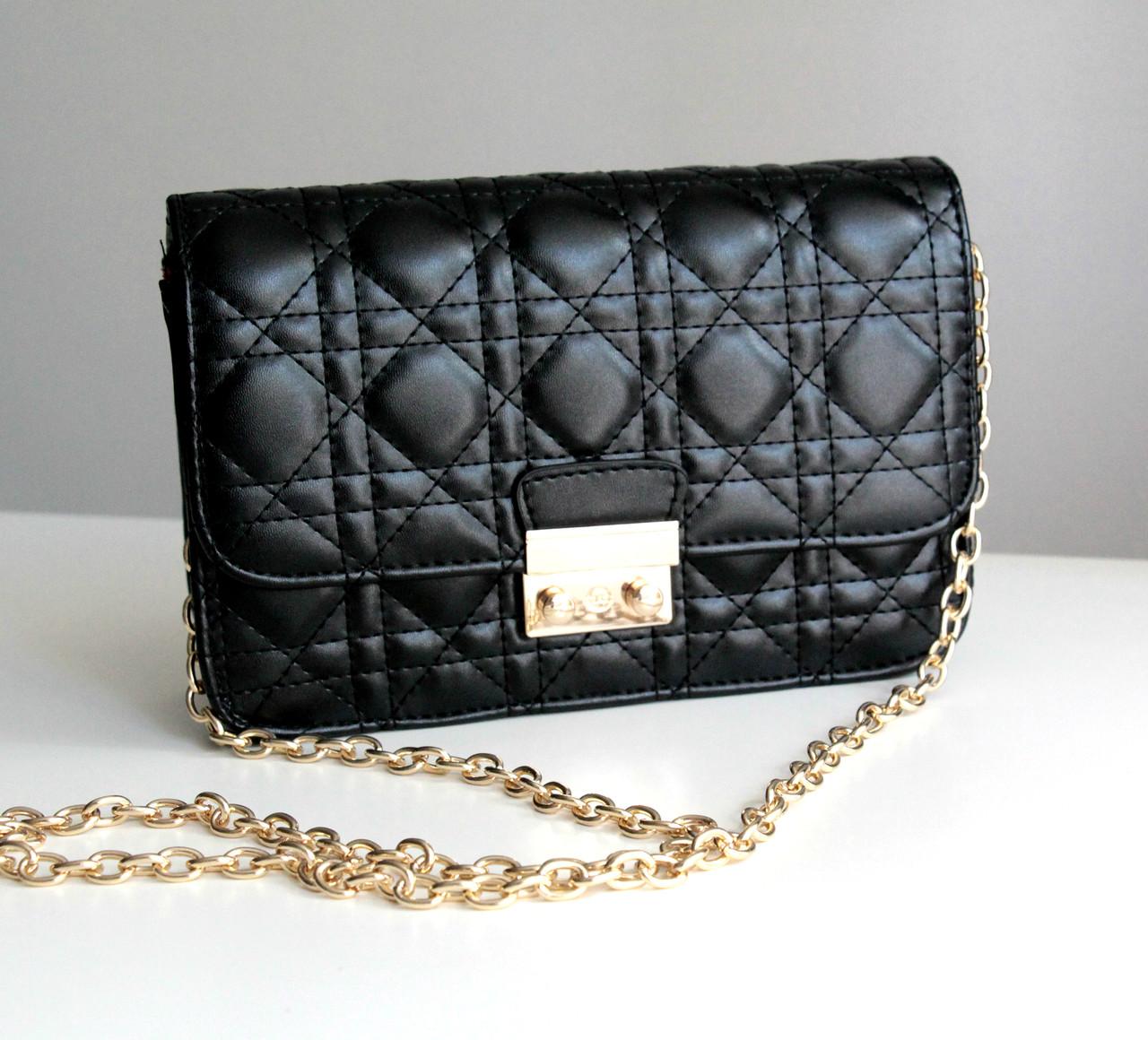 1292254b2516 Женская сумка в стиле Dior black, сумки женские 2016 - Интернет-магазин
