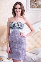 Платье с бархатным узором и блестками
