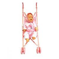 Пупс аналог Baby born с металлической коляской, 60 см