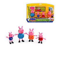 Набор фигурок семья свинка Пеппа, 4 шт (7-10 см)