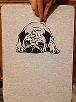 """Футболка ручного розпису """"Мопс"""" - подарунок любителям псів"""