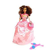 Кукла 2933 в розовом платье с аксессуарами (туфли с сумочкой)