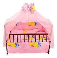 Комплект постельный Алинка - 7 предметов, с бантом, Принцессы, розовый