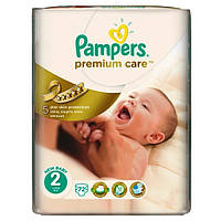 Подгузники Pampers Premium Care 2 (3-6 кг) JP, 72 шт.