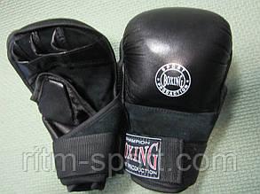 Рукавички шкіряні для рукопашного бою Boxing, фото 2