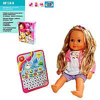 Кукла функциональная интерактивная с планшетом, на батарейках, обучает, поет, игра экзамен