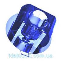 Светильник точечный ack 2502, 20Вт, 220В, синий хрусталь