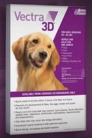 Вектра 3D капли от клещей и блох для собак весом  40 - 65кг/упаковка из 3х пипеток