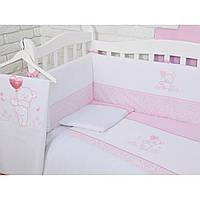 Комплект детского постельного белья на кроватку Верес Sweet Bear pink Верес 3 эл