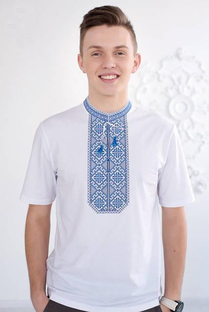 Красивая вышитая мужская футболка, фото 1