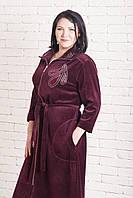 Шикарный велюровый халат женский