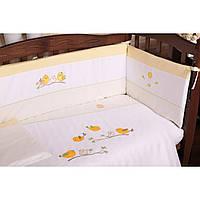 Комплект детского постельного белья на кроватку Верес Spring Birdies yellow Верес, 3 эл
