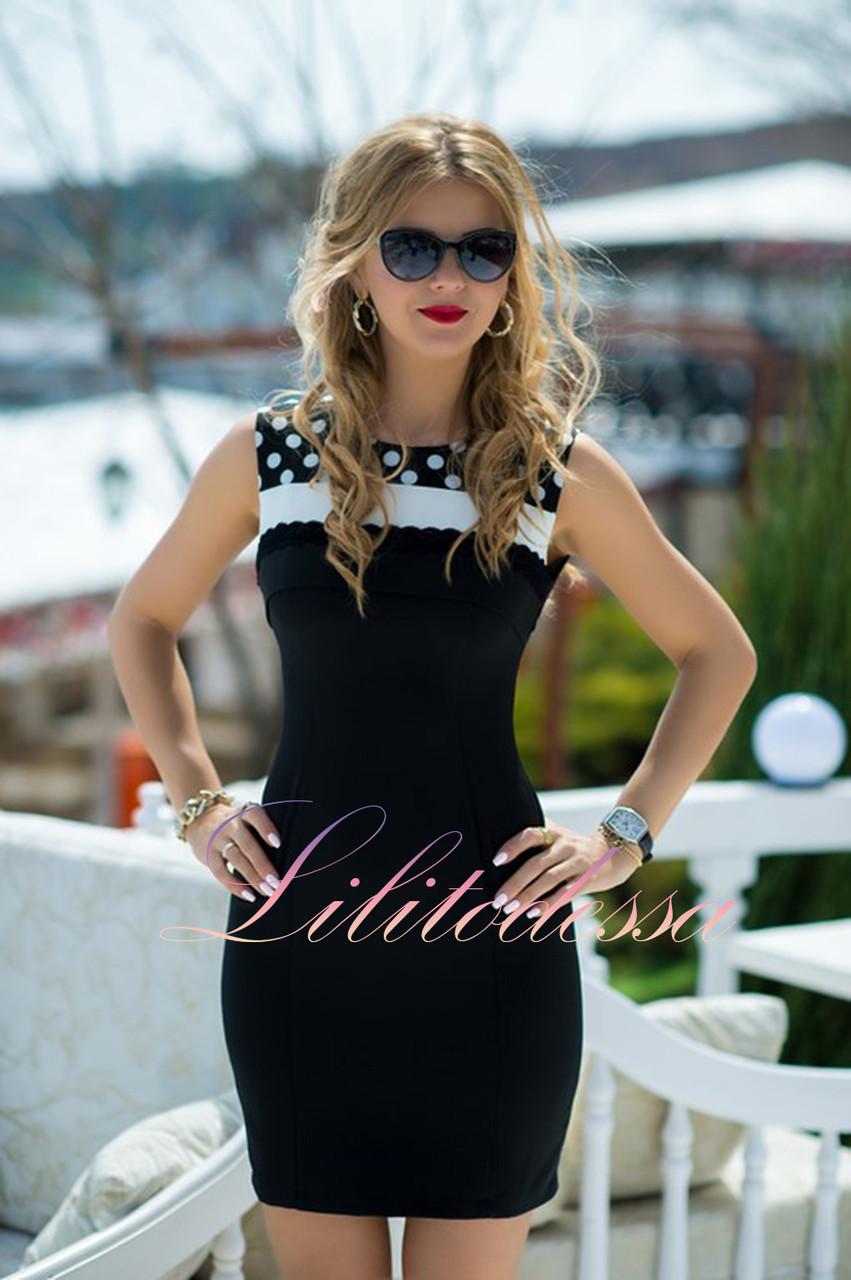 Черное летнее Платье Ивонн