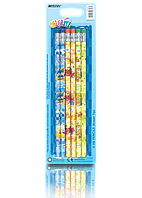 "Карандаши простые ""MARCO"" №1000ЕB-6ВL Colorite с ластиком (6 шт)"