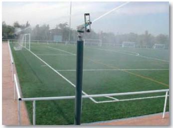 Полив футбольного поля  Rain Bird