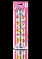 """Карандаши простые """"MARCO"""" №1000ЕP-6ВL Colorite с ластиком (6 шт)"""