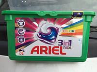 Гель-капсулы для стирки Ariel pods 3в1 (Ариель подс 3в1) для цветного белья 42 шт