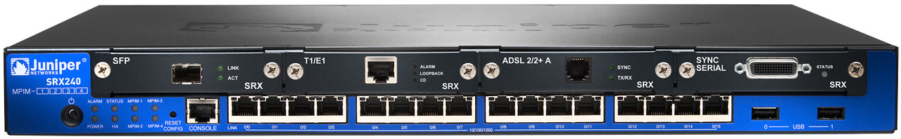Межсетевой экран JuniperSRX services gateway 240 with 16 x GE ports, 4xmini-PIM slots, and high memory (1GB RA (SRX240H2)