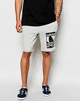Шорты мужские спортивные Adidas серые Адидас