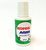 Корректор с кисточкой   на водной основе  Kores AQUA