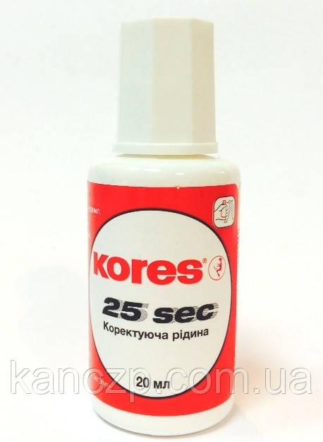"""Корректор с кисточкой   """"25сек."""" Kores"""