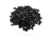 Декоративный цветной щебень (крошка, гравий) , черный (07)