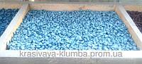 Декоративный цветной щебень (крошка, гравий) , черный (073672) Светло голубой