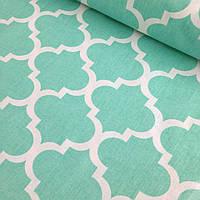 Хлопковая ткань марокко мятный № 306