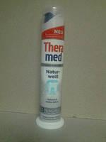 """Theramed зубная паста """"Природная белизна"""" с дозатором- СРІБНА"""