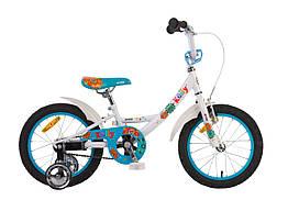 """Детский двухколесный велосипед 16"""" PRIDE KELLY 2014 бело-синий"""