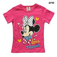 Футболка Minnie Mouse для девочки. 90, 100, 110, 120, 130 см, фото 1