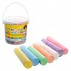 Мелки для рисования цветные в ведерке 15 шт (0095)