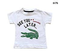 """Футболка """"Крокодил"""" для мальчика. 1 год"""