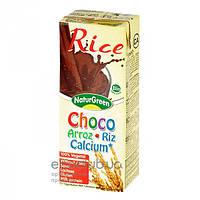 Молоко органическое растительное из риса c какао и морскими водорослями ТМ NaturGreen 200мл