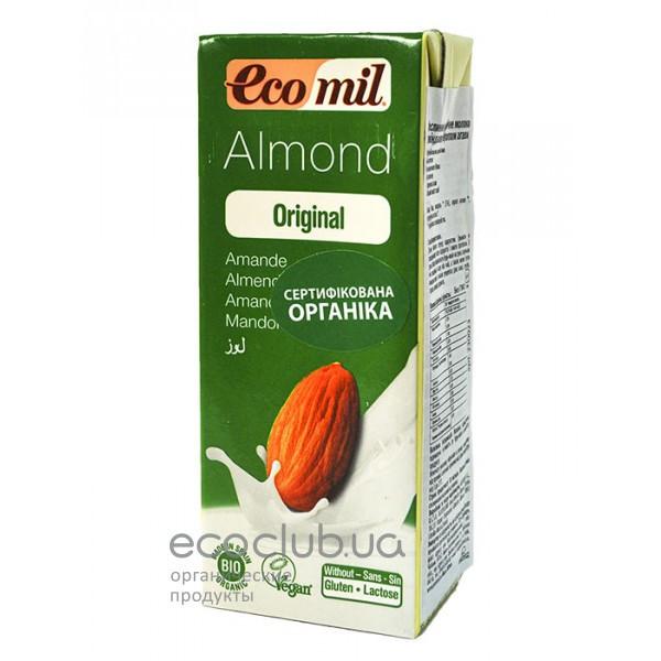 Молоко органическое растительное из миндаля с сиропом агавы ТМ EcoMil 200мл
