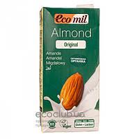 Молоко органическое растительное из миндаля с сиропом агавы ТМ EcoMil 1л