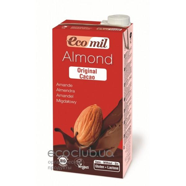 Молоко органическое растительное из миндаля с сиропом агавы и какао ТМ EcoMil 1л