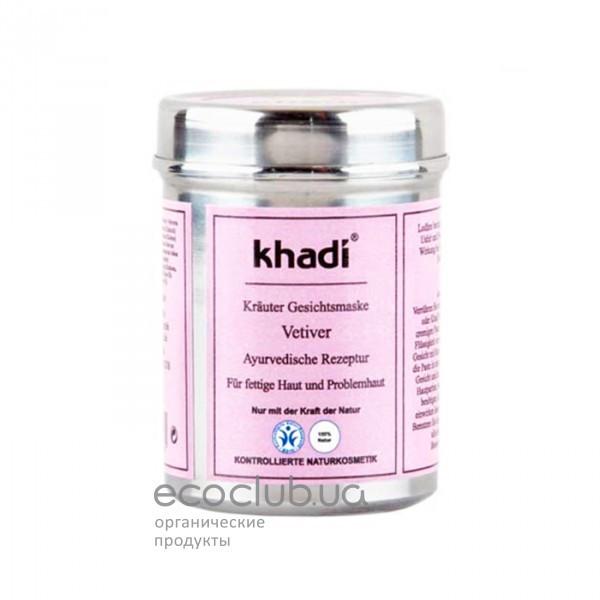 Маска растительная для лица Ветивер Khadi
