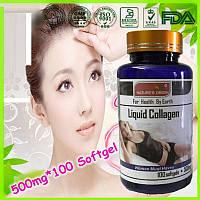 Капсулы Коллаген Collagen Liquid  для красоты вашей кожи и  ногтей 100шт