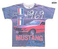 Футболка Ford Mustang для мальчика. 125, 140, 150, 160, 170 см (7, 8, 10, 12, 14, 16 лет)