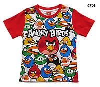 Футболка Angry Birds для мальчика. 150 см