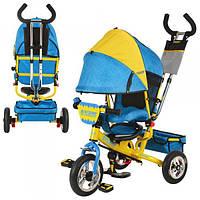 Велосипед трехколесный Turbo trike M 5361-01 UKR желто-синий