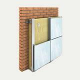 Утеплитель фасадный ТЕХНОВЕНТ 80 кг/м3, 50 мм утепление наружных стен под вентилируемые фасады