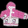 Детская кофта на пуговицах с капюшоном, акрил, Турция, ТМ Ромашка, размер 86