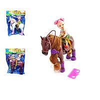 Лошадка с маленькой куклой, 2 вида, 17х5 см