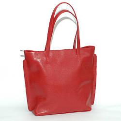 Женская кожаная сумка 11 красный флотар 01110107