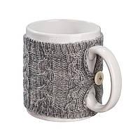 Чашка в чехле Ohaina в косы 10х10 цвет сталь, фото 1