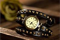 Женские наручные кварцевые часы JQ Black c длинным ремешком